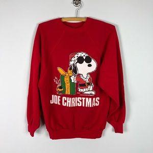Vintage 1971 Snoopy Macy's Christmas Sweatshirt L